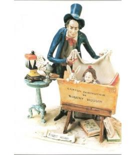 POSTAL MAGO CARTON FANTASTIQUE ROBERT HOUDIN/MAGICANTIC
