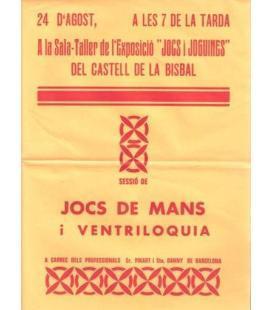 CARTEL JOCS DE MANS I VENTRILOQUIA/MAGICANTIC K 102