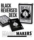 Reversed Back Bicycle Deck - Black
