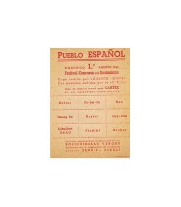 PAPELETA DE VOTACION 1943 PUEBLO ESPAÑOL/ Magicantic