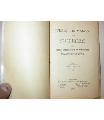 CIEN JUEGOS DE MANOS,DE SOCIEDAD/MINGUET/VINDEX/MAGICANTIC/C58