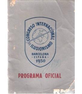 PROGRAMA OFICIAL CONGRESO INTERNACIONAL 1950/MAGICANTIC/K42