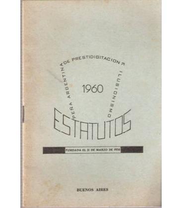 ESTATUTOS 1960 PEÑA ARGENTINA PRESTIDIGITACION/MAGICANTIC/K1