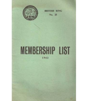 IBM MEMBERSHIP LIST 1962/MAGICANTIC /K3