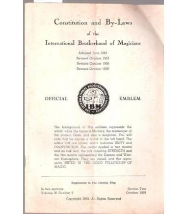 CONSTITUTION AND BY-LAW IBM/MAGICANTIC K/4