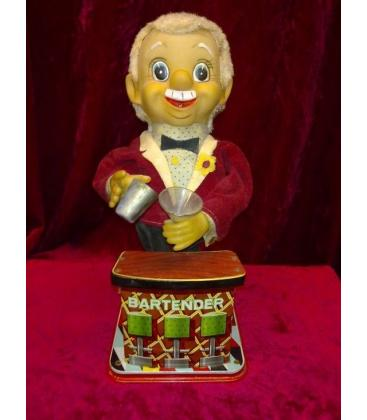 Vintage Mechanical Bartender Toy