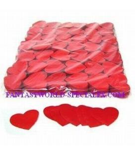 Confeti Corazones Gigantes Rojos Ignifugo