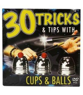 DVD 30 Tricks Cups and Balls DVD in Compact Sleeve with Cups & Balls